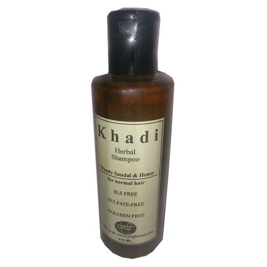 Khadi Sls Free Woody Sandal & Honey Normal Hair Herbal Shampoo (210 Ml)