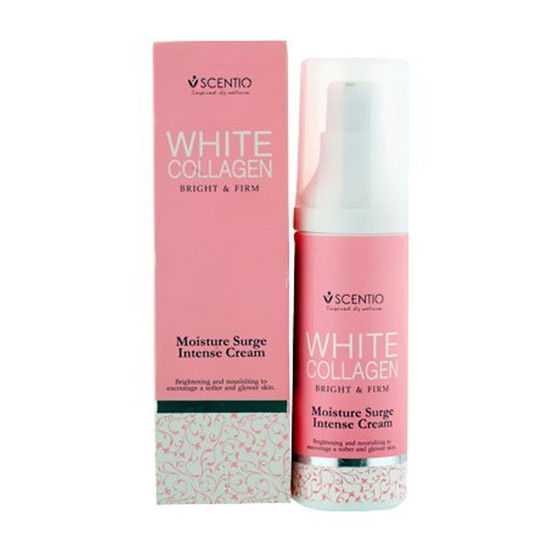 Scentio White Collagen Bright & Firm Moisture Surge Intense Cream (Made In Thailand)